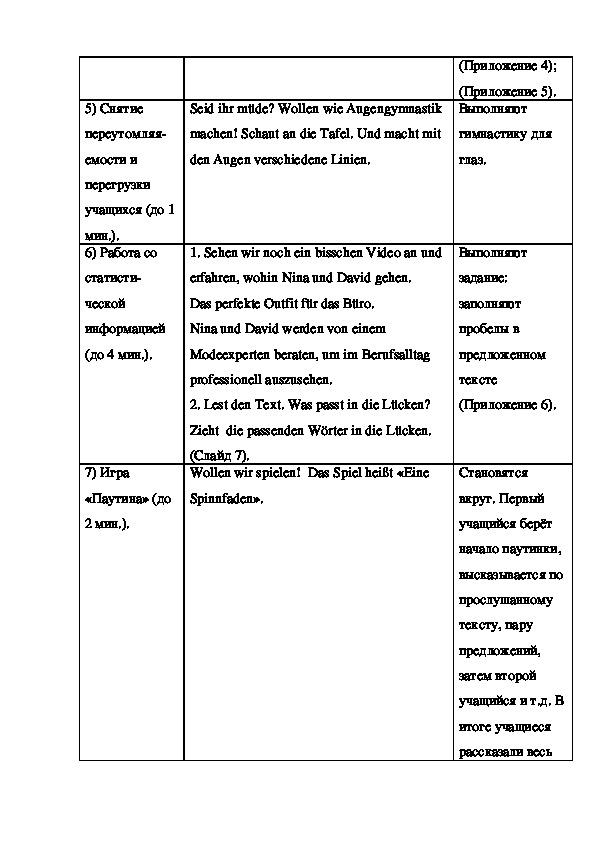 """План урока по  по немецкому языку на тему """"Мода"""" (9 класс)"""