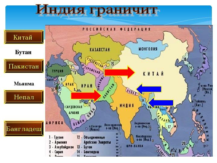 """Презентация по географии для 7 класса на тему """"Страны Южной Азии. Индия"""""""
