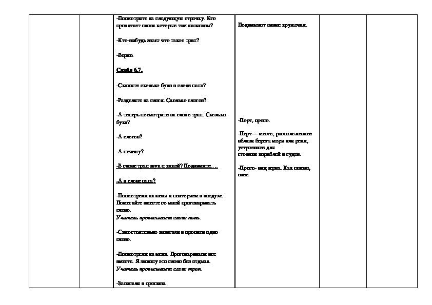 Конспект пробного урока  в 1 «В» классе ГБОУ «Школа № 763» по Обучению письму
