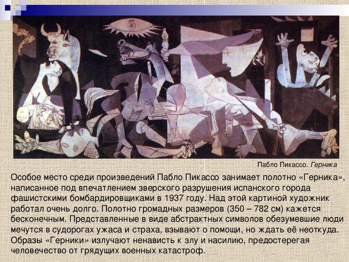 "Презентация по МХК ""Зарубежное искусство XX века  """