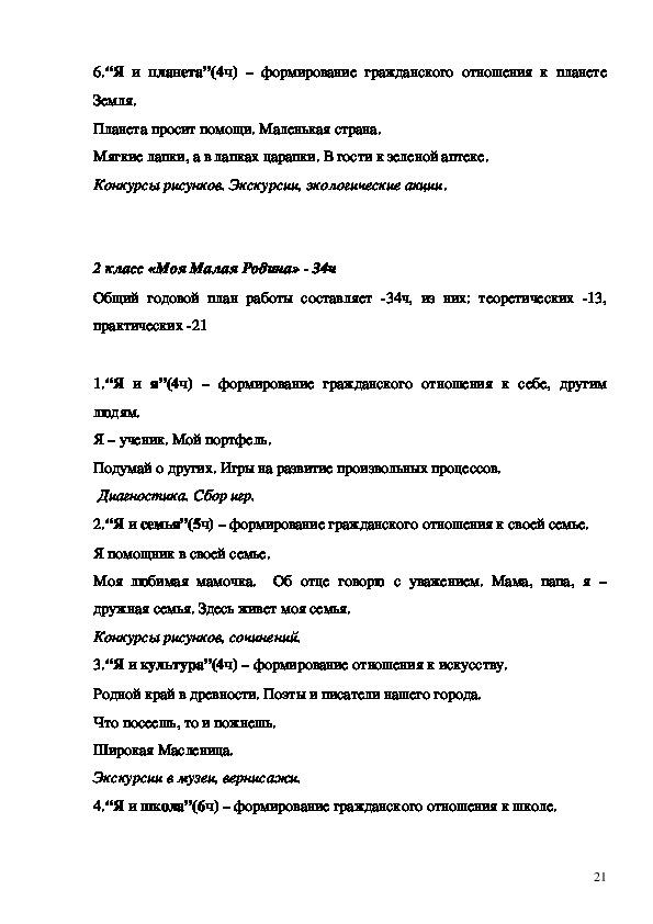 РАБОЧАЯ ПРОГРАММА ВНЕУРОЧНОЙ ДЕЯТЕЛЬНОСТИ  ПО ДУХОВНО - НРАВСТВЕННОМУ  НАПРАВЛЕНИЮ  Я – гражданин России