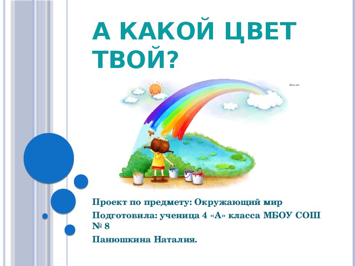 Исследовательская работа ученицы 4-а класса Панюшкиной Наталии