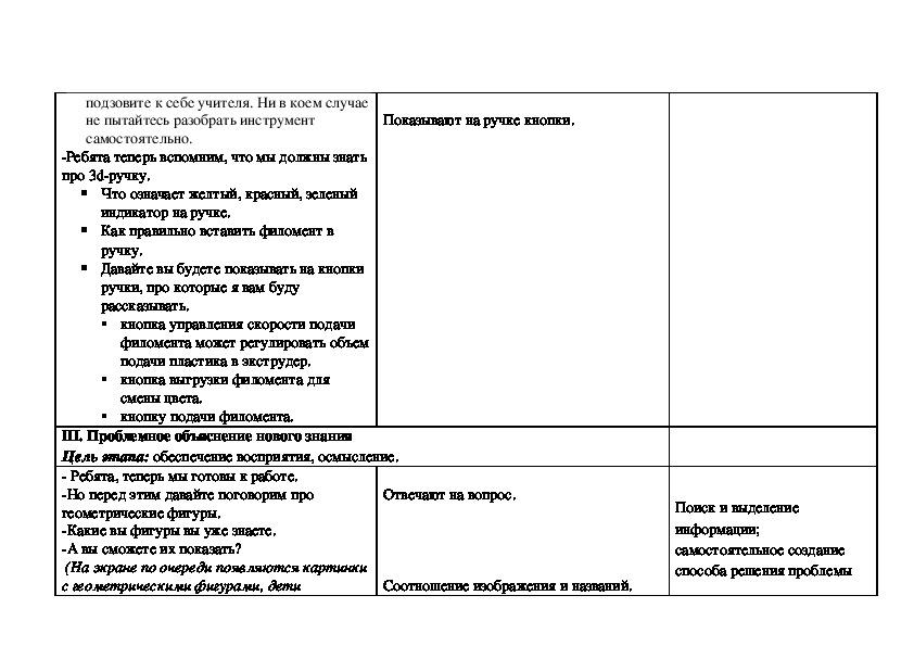 Конспект урока по предмету 3д-матерская (внеурочная деятельность),   в соответствии с требованиями ФГОС.