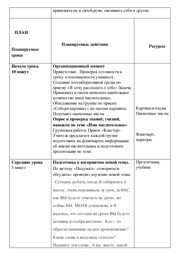 """Краткосрочное планирование по русскому языку """"Местоимение"""""""