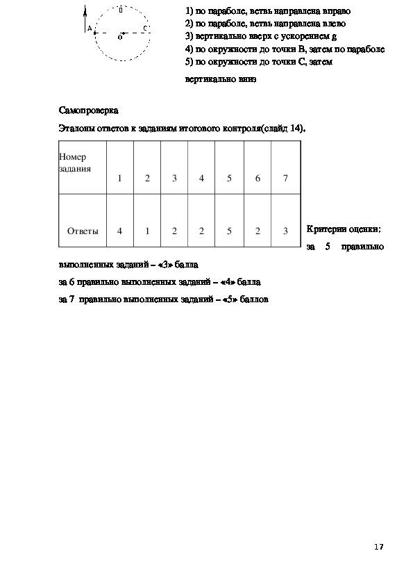 Методическая разработка урока по физике. Тема: Равномерное движение по окружности. (1 курс техникума)
