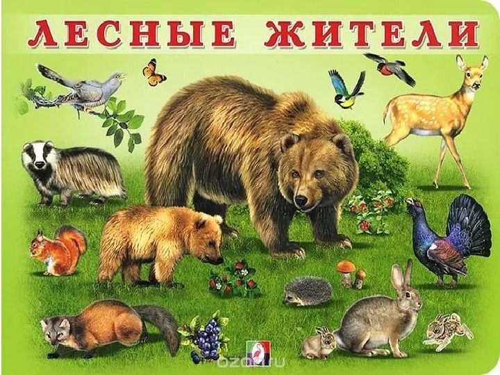 Картинка с надписью дикие животные