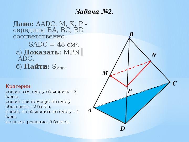 """Урок геометрии 10 класс """"Признак параллельности плоскостей"""""""