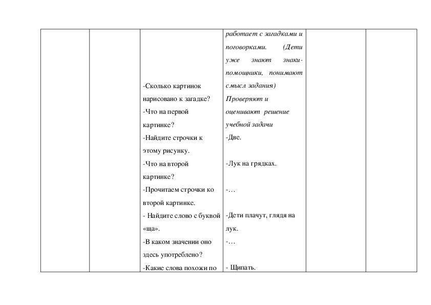 Конспект урока обучения грамоте и чтению в 1 классе  (УМК «Перспективная начальная школа»)/ Звук [щ'], буквы Щ, щ
