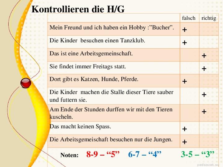 Технологическая карта по немецкому языку 7 класс линия Горизонты