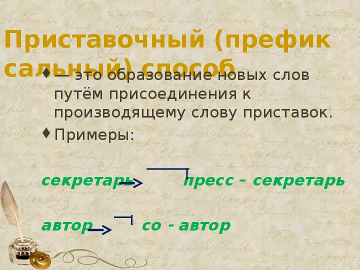 """Презентация """"Основные способы образования слов в русском языке"""". 6 класс"""