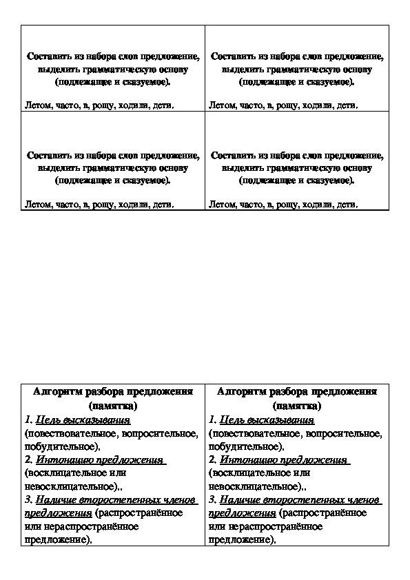 """Конспект и презентация открытого урока по русскому языку в 4 классе на тему """"Предложение и текст"""""""