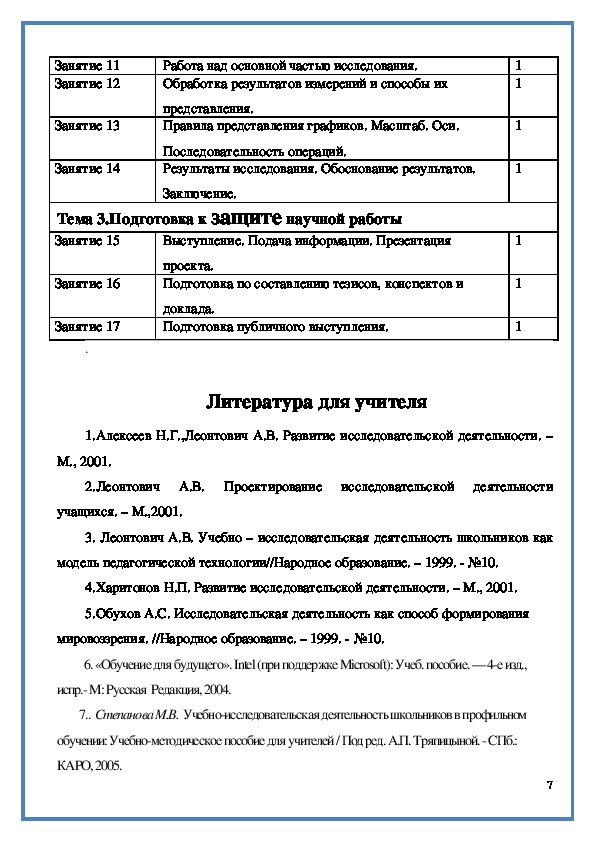 """Программа элективного курса  """"Индивидуальная исследовательская деятельность"""""""