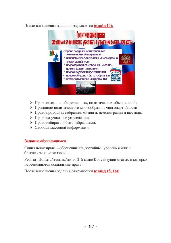 """Методическая разработка классного часа по теме: """"Конституция РФ"""""""