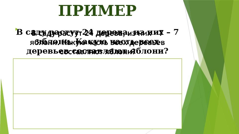 """Презентация для конспекта урока по математике на тему """"Понятие обыкновенной дроби"""" (5 класс)"""