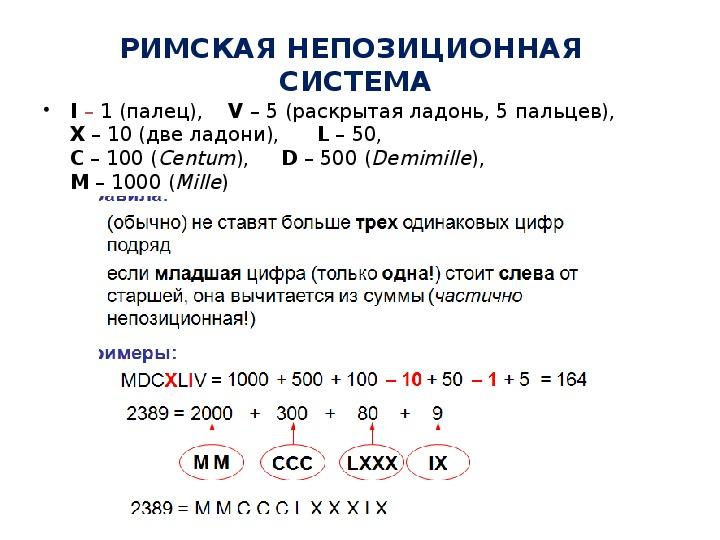 Презентация по информатике. Тема: История (системы счисления) (4 класс).