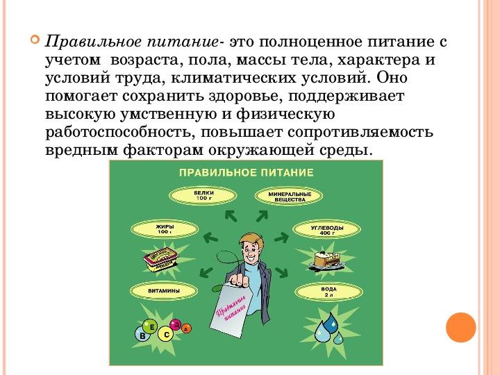 """Проект"""" Правильное питание залог здоровья"""""""