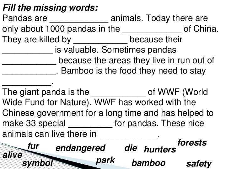 "Презентация на тему по английскому языку ""Going Green. Animals in danger.""- 9 класс."