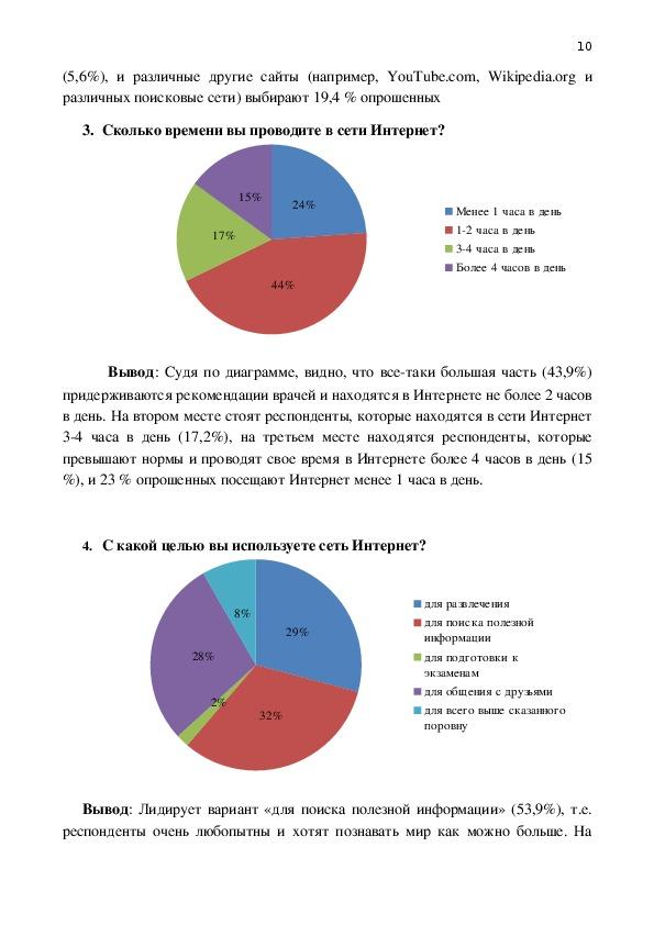 """Исследовательская работа на тему """"Математическая статистика и интернет"""""""