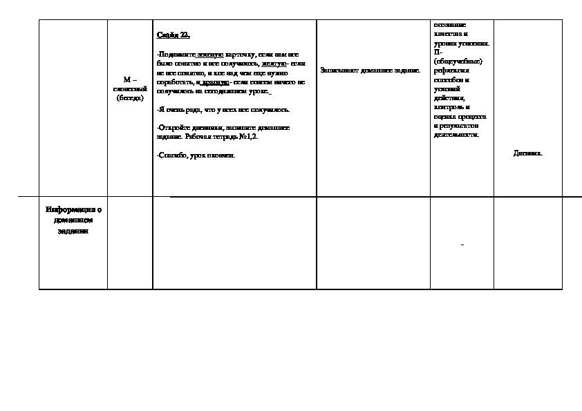 Конспект пробного урока  в 3 «А» классе ГБОУ «Школа № 763» по Русскому языку
