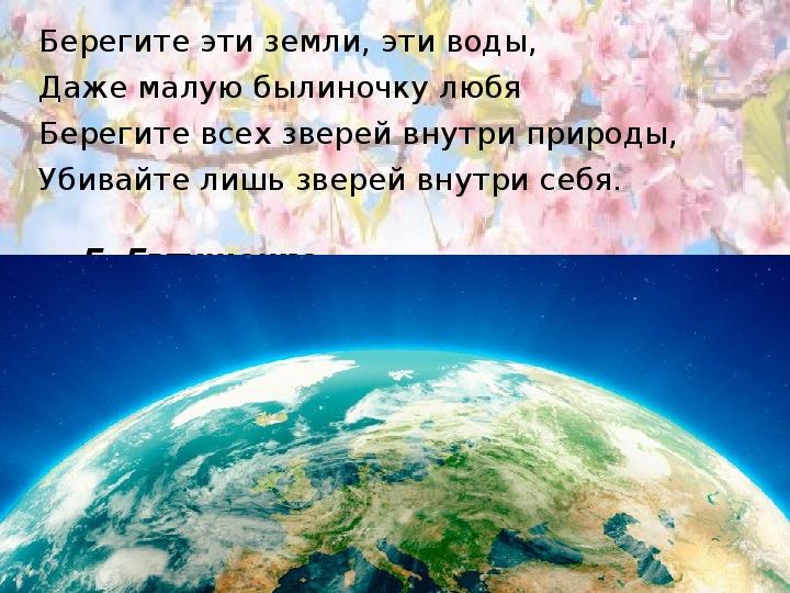 Внеклассное мероприятие, посвящённое празднику «День Земли» для 7-8 классов Коррекционной школы 8 вида