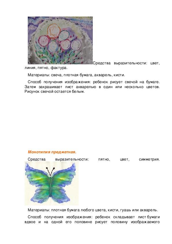 Знакомство с нетрадиционными техниками рисования и их роль в развитии детей дошкольного возраста.
