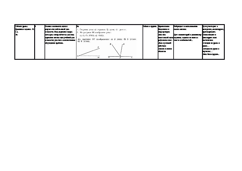 """Разработка урока в 5 классе. """"Как обозначают и сравнивают углы"""""""