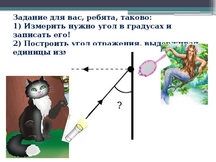 """Презентация к открытому уроку по математике в 5 классе: """"Луч света в математике"""""""