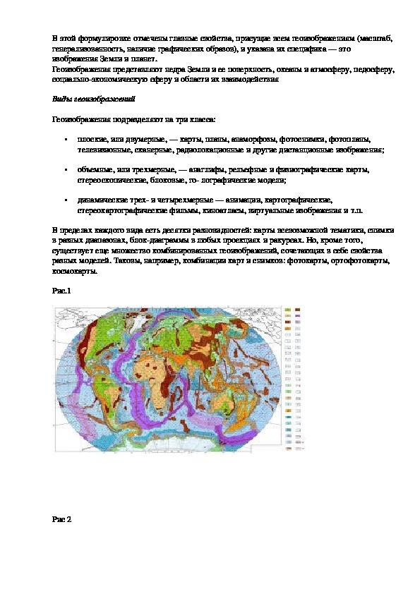 """Конспект урока """"Картография. Значение картографии в современном обществе. Виды геоизображений"""" 11 класс"""