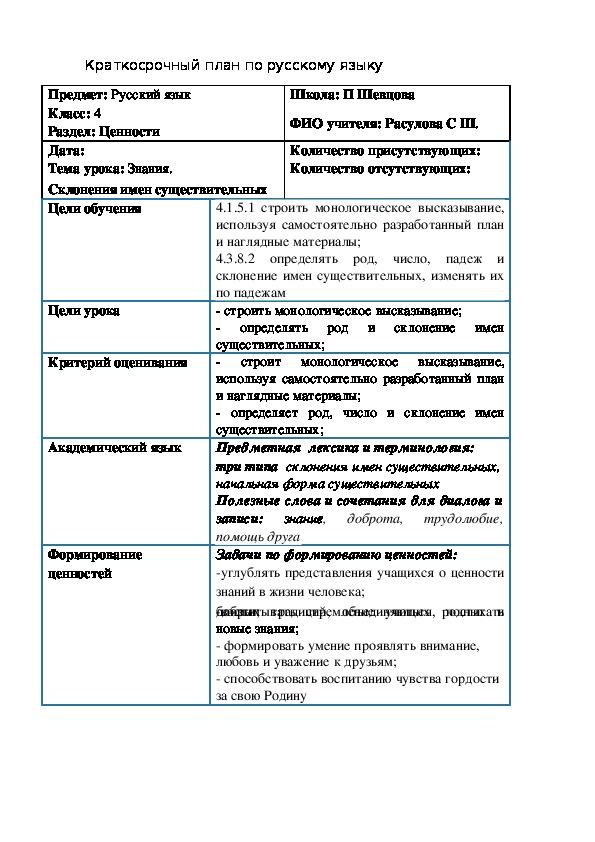 """Презентация по русскому языку """"Склонение имен существительных"""""""