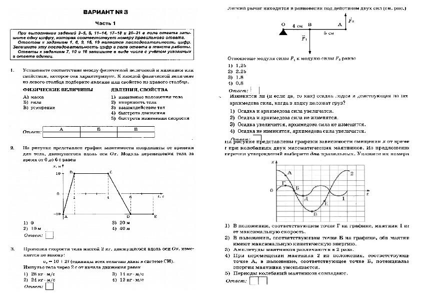 Подготовка к ОГЭ по физике