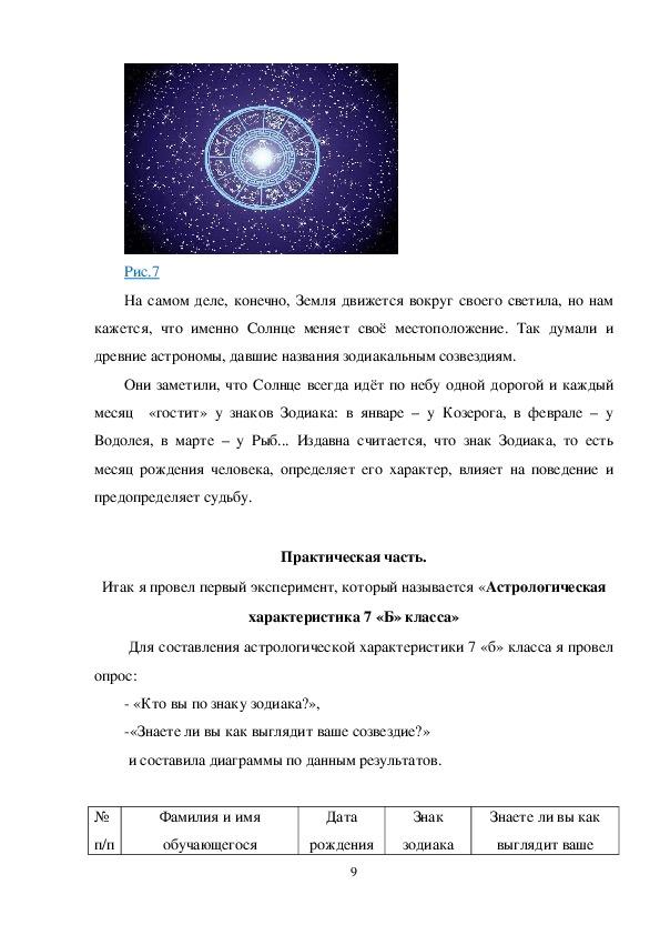 """Проек по теме: """"Координатная плоскость и знаки Зодиака"""""""