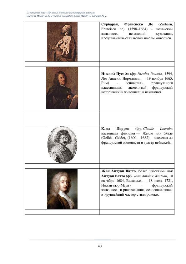 Программа «По залам Дрезденской картинной галереи»