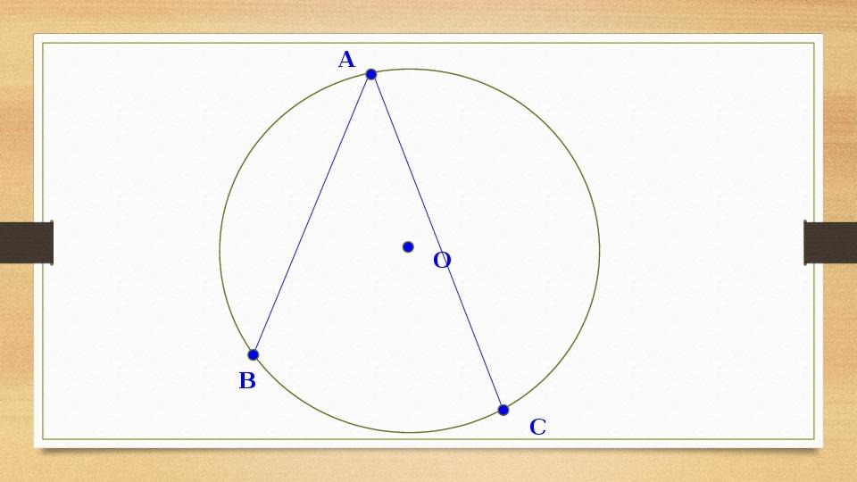 """Разработка урока геометрии по теме """"Вписанные и центральные углы"""" (8 класс)"""