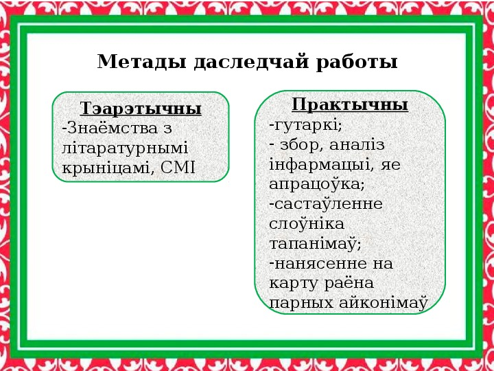 Исследовательская работа учащегося 10 класса по топонимии Ивьевского района