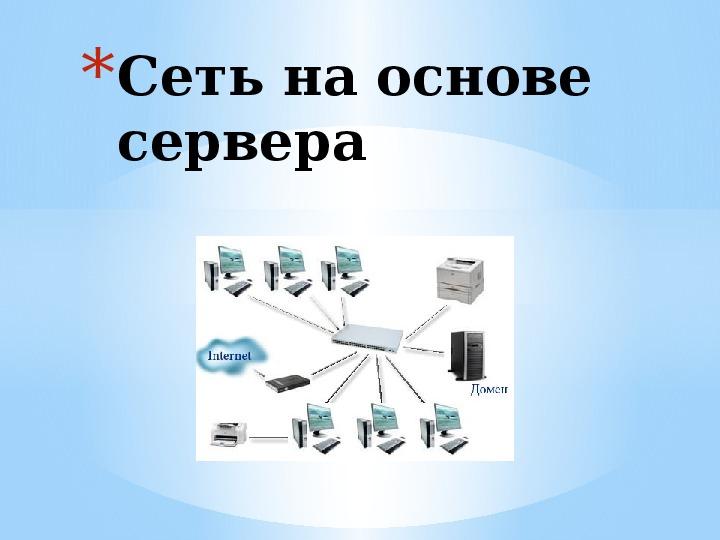 Сеть на основе сервера