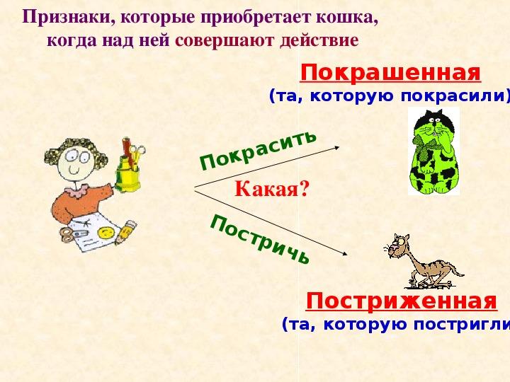 "Презентация ""Знакомство с причастием"" (7 класс)"