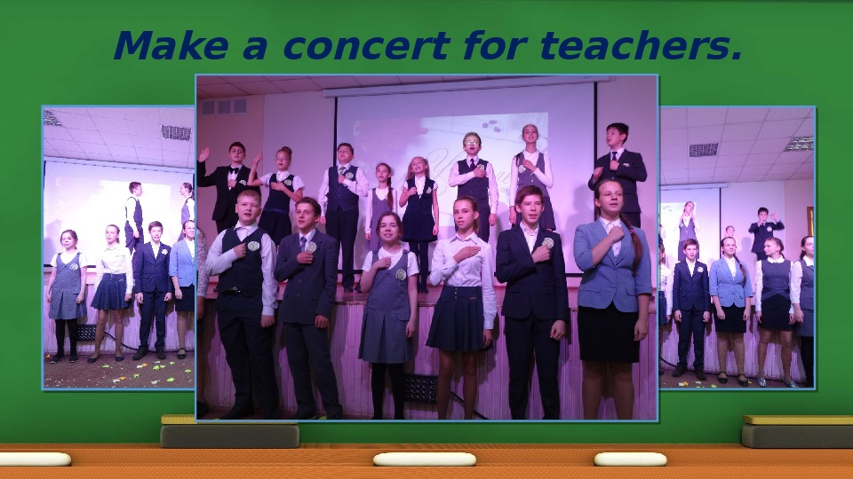 "Презентация по английскому языку  ""Teacher's Day"""