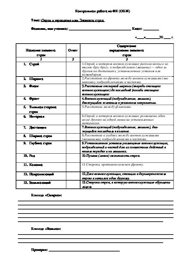 Карточки-задания по тематическому контролю знаний обучающихся (5-11-е классы)