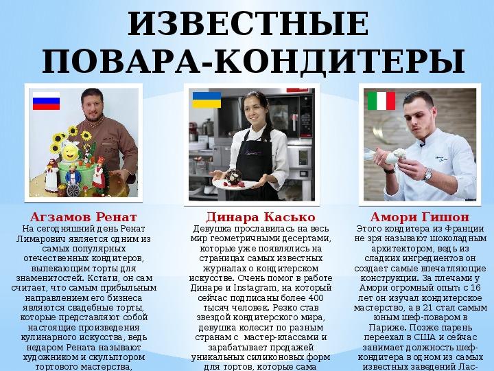 """Профессия """"Повар-кондитер"""" (проф.ориентация для выпускников)"""