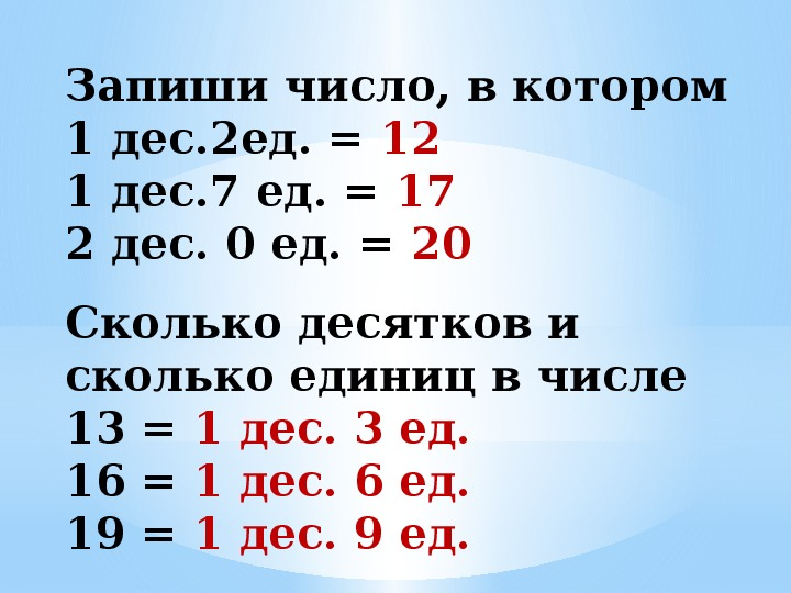 """Урок математики 1 класс """"Образование чисел второго десятка""""."""