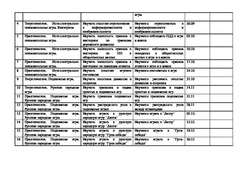 """Программа внеурочной деятельности """"Калейдоскоп занимательных игр """" для учащихся 1-4 классов"""