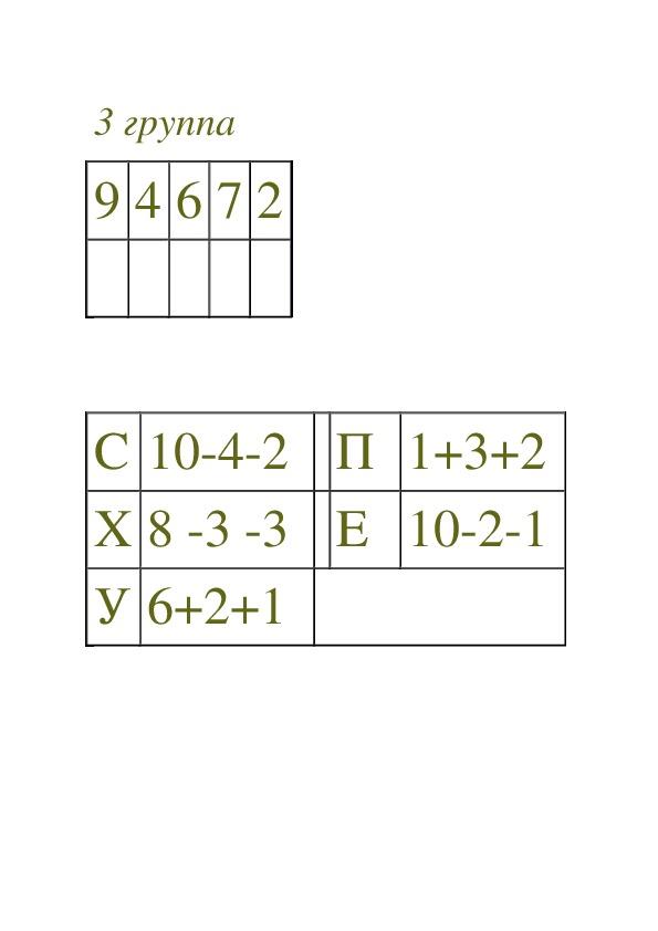 """Конспект и презентация  урока математики """"Числа от 1 до 10"""" (1 класс, математика)"""