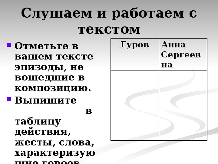 Презентация по литературному чтению А.П. Чехов произведение «Дама с собачкой» в 9 классе.