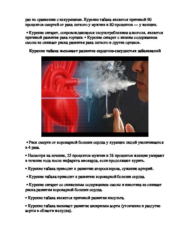 Аналитическая статья «Курение или здоровье? Выбирайте сами!»