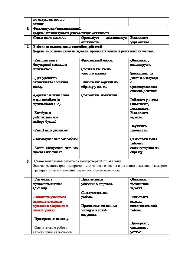 """Урок русского языка: """"Анализ (разбор) простого предложения"""""""