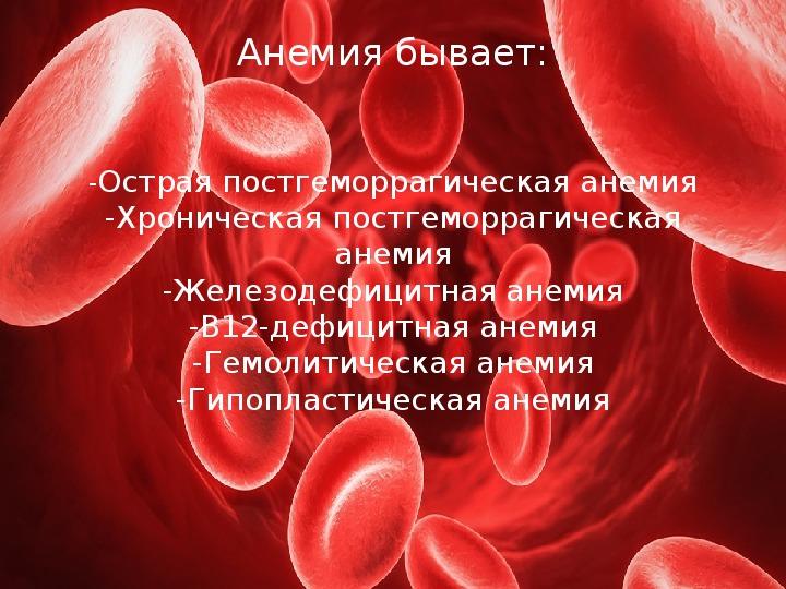 анемия и простатит