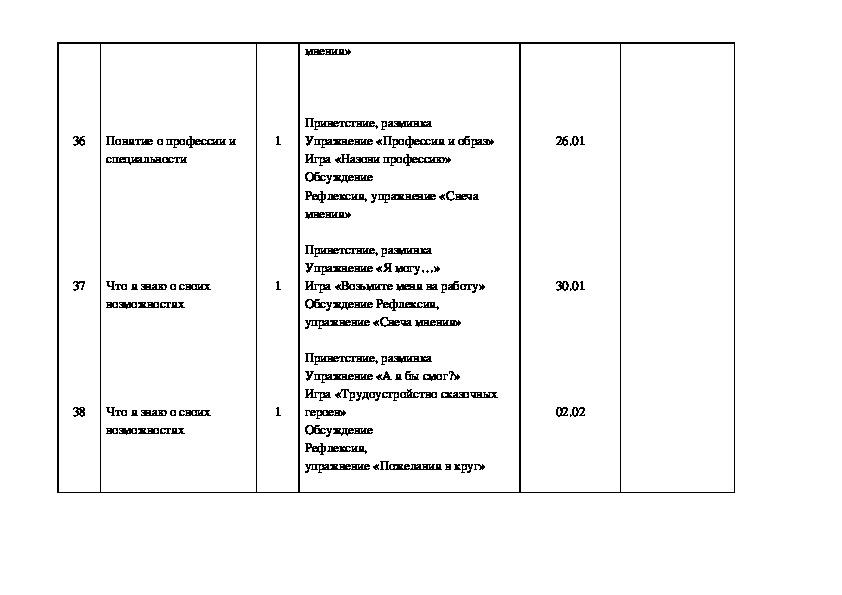 """Программа по курсу """"Психологический практикум"""""""