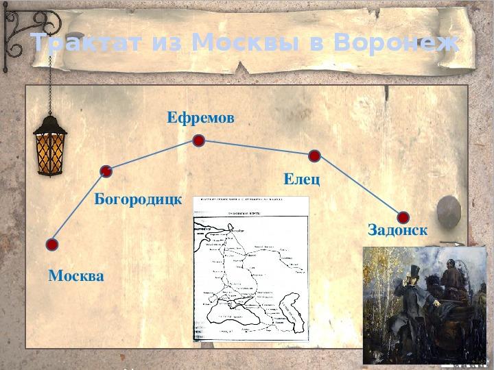 "Презентация ""Пушкин на Воронежской земле"""