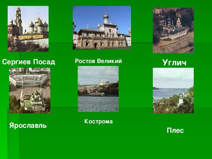 Окружающий мир 3 класс ТЕМА: «Золотое кольцо России»