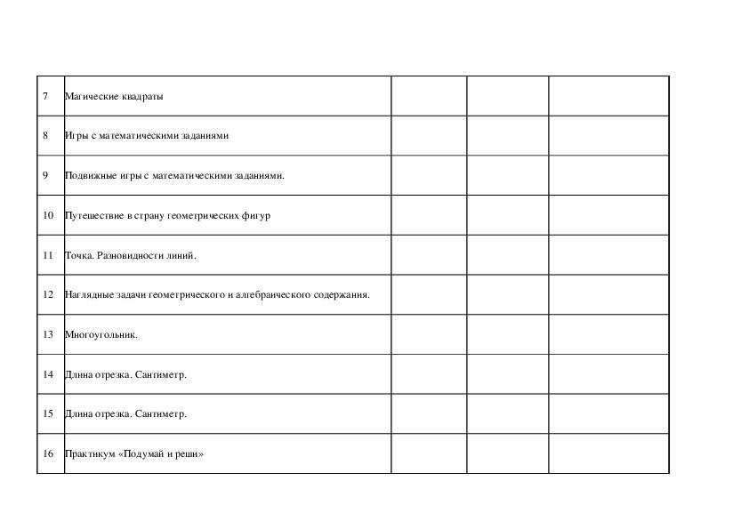 Программа внеурочной деятельности «Занимательная математика», 2 класс
